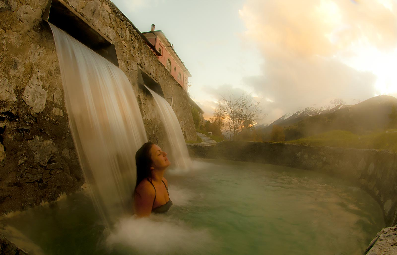 Bormio thermal baths during your holidays at Alù hotel